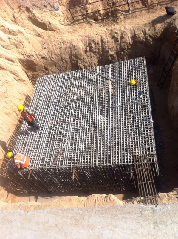 The steel cage for the pile cap being prepared - Photo Copyright: Rushabh Gandhi