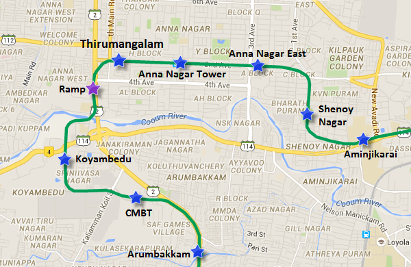 anna nagar chennai map Chennai Metro Conducts Trial Run Between Thirumangalam Ramp Anna anna nagar chennai map