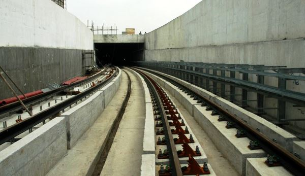 Looking down the ramp into the tunnel - Photo Copyright: CMRL