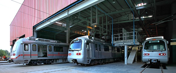 View of the main shed shot prior to commencing operations - Photo Copyright: Jaipur Metro