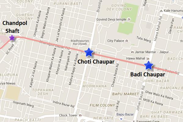 Map of Jaipur Metro's underground section