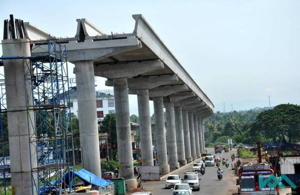 On NH47 - Photo Copyright: Kochi Metro Rail