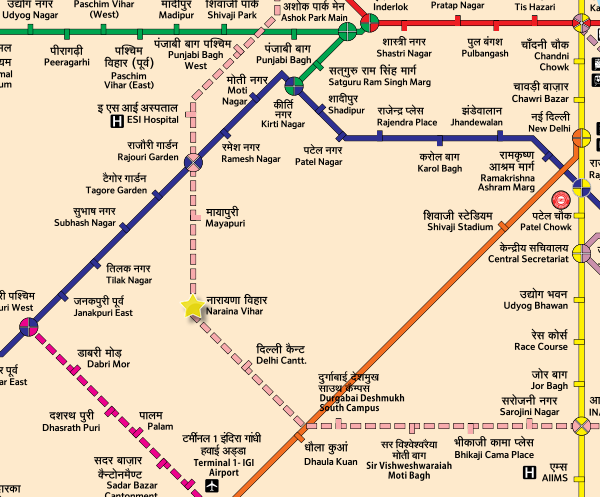 Location of breakthrough - Map Courtesy DMRC - full full map