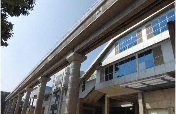 View of the completed National College station - Photo Copyright: BMRCL