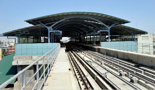 Bangalore's Puttenahalli station on the soon - Photo Copyright: Prajvani