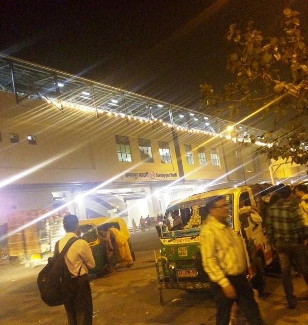 Samaypur Badli station lit up for Diwali! - Photo Copyright: Deepak Bisht