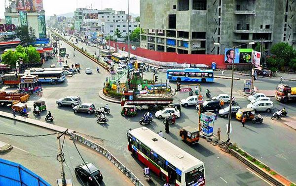 View of Benz Circle - Photo Copyright: Deccan Chronicle