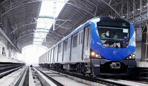 An old image of a Chennai Metro train shot during trials - Photo Copyright: Indian Express