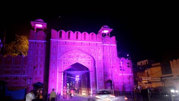 Chandpol Gate illuminated for Diwali! - Photo Copyright: Ashok Kumar Rai