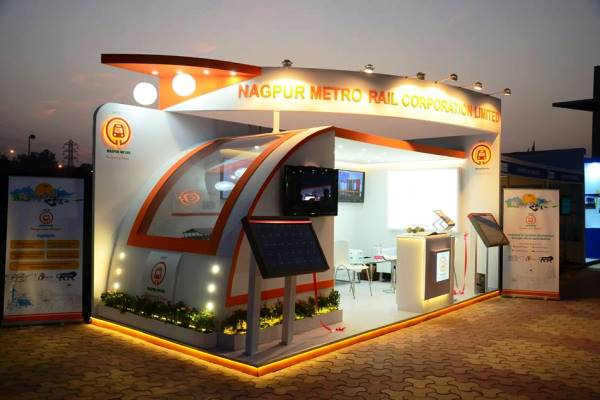 Nagpur Metro Rail Corp's cool stall - Photo Copyright: NMRC