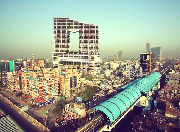 Wave One with the erst. Noida Sector-18 station in March 2015 - Photo Copyright: Wave One