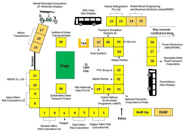 Layout of stalls within Manekshaw Center - Photo Copyright: UMI