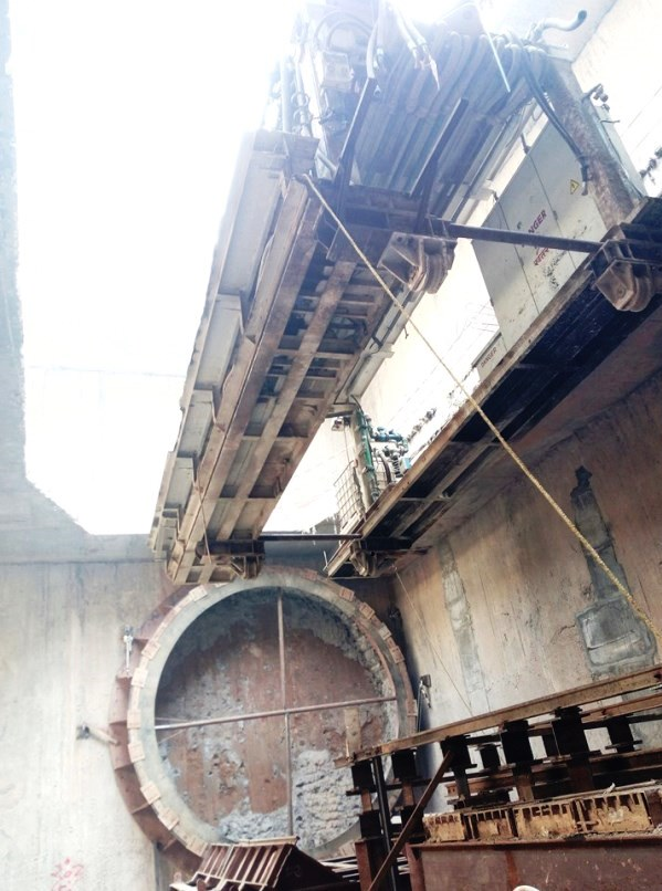 View of the back-up gantry from the bottom - Photo Copyright: Ranjeet Singh Yadav
