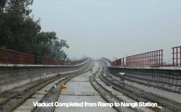 The Najafgarh ramp to the tunnel is ready for track installation - Photo Copyright: DMRC