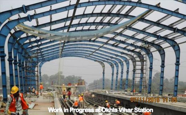 Okhla Vihar station - Photo Copyright: DMRC