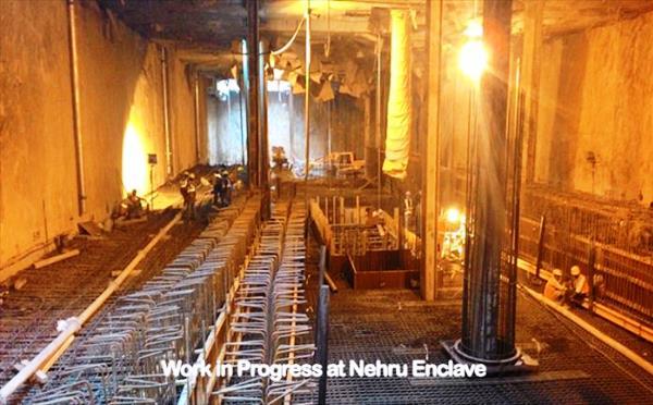 Inside the Nehru Enclave station - Photo Copyright: DMRC