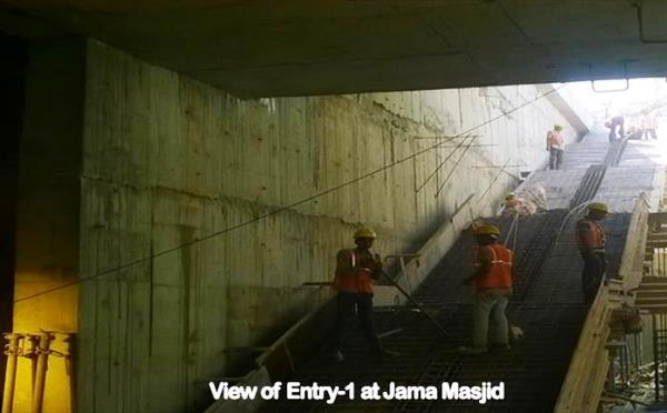 One of the entrance to the underground Jama Masjid station - Photo Copyright: DMRC