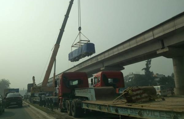 3rd of 7 new trains for Gurgaon Metro - Photo Copyright: donewittisshit
