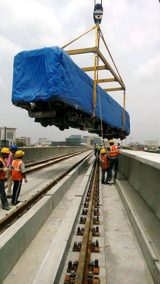 2nd of 7 trains for Gurgaon's Metro - Photo Copyright: Rahul Gupta