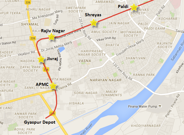 Gyaspur - Shreyas section of Ahmedabad Metro