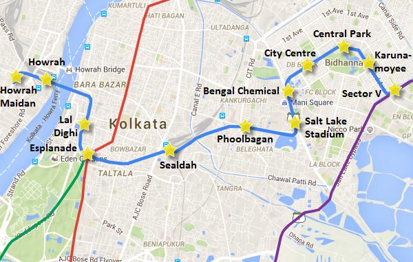 Kolkata's East-West metro line