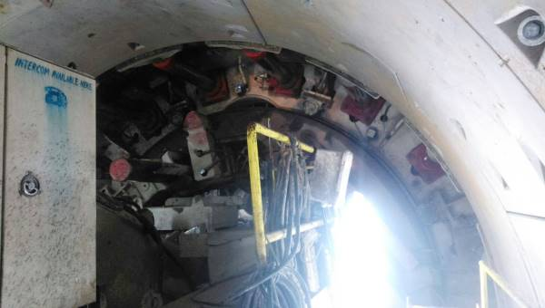 Rear end of the TBM - Photo Copyright: Abhay Kumar