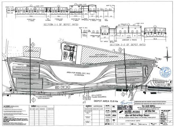 Apparel Park Depot's Site Plan - view large
