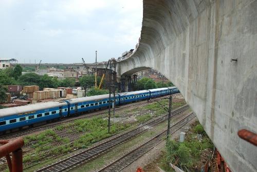 Delhi Metro's cantilever section at Okhla - Photo Copyright: DMRC