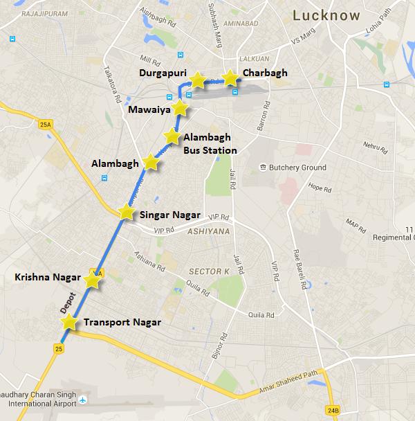 LucknowMetroMap