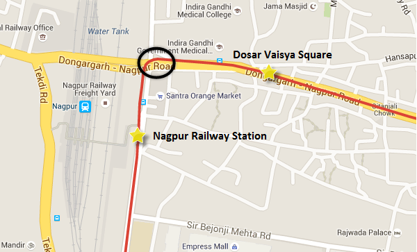 Circle - where the metro & ramp will share the same structure - view Nagpur Metro map & information