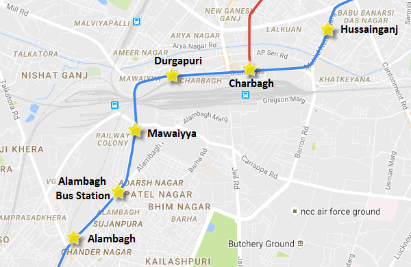 Lucknow Metro Map.500th U Girder Launched For Lucknow Metro S Priority Corridor The