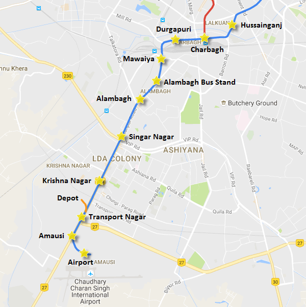 Lucknow Metro Map.Lmrc Extends Lucknow Metro Trial Runs To Charbagh Station The