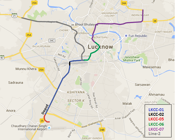 Lucknow Metro Map.Lucknow Metro S 255m Cantilever Bridge Completed The Metro Rail Guy