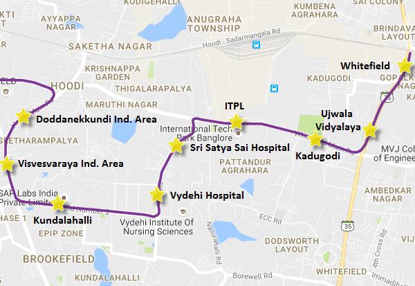 Reach 1B of Bangalore's Metro - view Bangalore Metro Phase 2 map & info