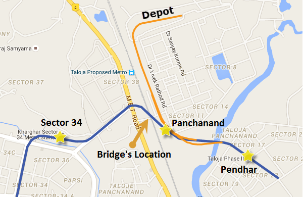 Navi Mumbai Metro Map Navi Mumbai Metro's Steel Bridge Design Approved by Indian