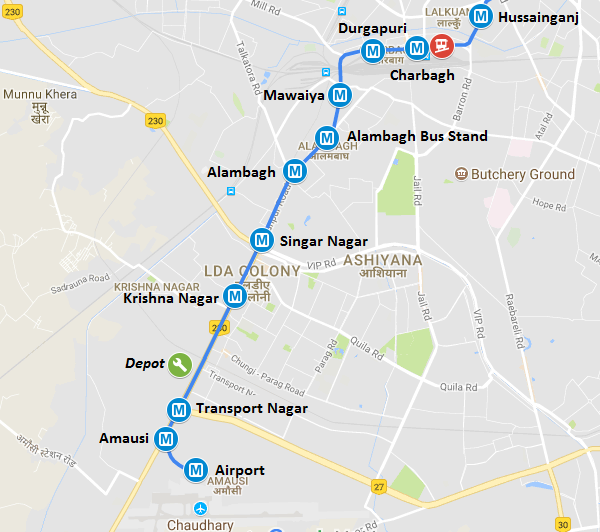 Lucknow Metro Map.Lmrcl Releases Lucknow Metro S Fare Chart Smart Card Info The