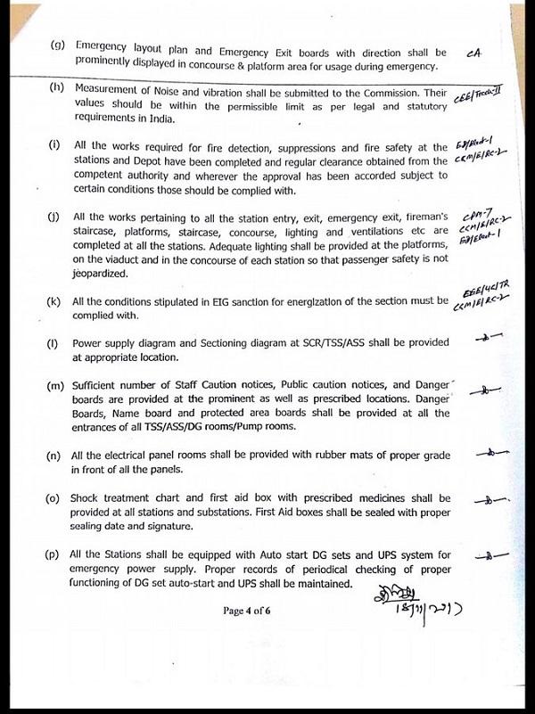 Cmrs Approves Delhi Metro Magenta Line S Kalkaji B