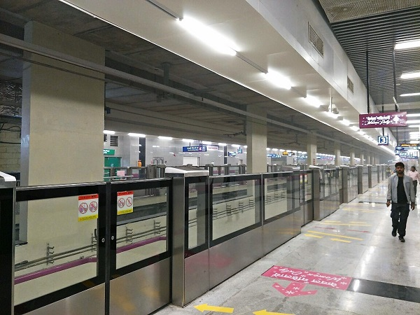 Pics Cmrs Begins Inspection Of Delhi Metro S Magenta