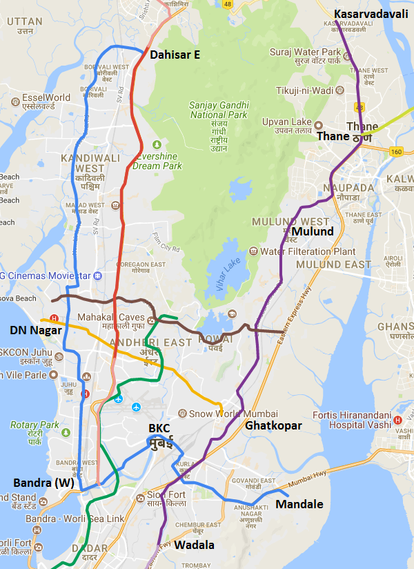 mumbai metro stations map Tata Reliance Lowest Bidders For Mumbai Metro S Line 4 The Metro mumbai metro stations map