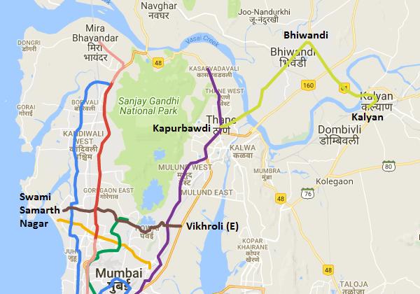 Mumbai Subway Map.Maharashtra Govt Approves Mumbai Metro S Line 5 And Line 6 The