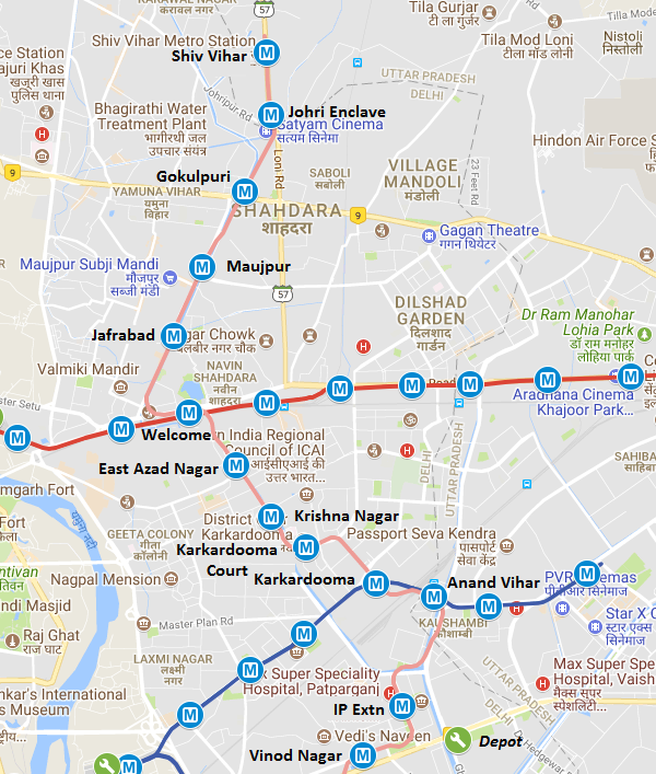 Trial Runs Begin on Delhi Metro Pink Line's IP Extn – Maujpur