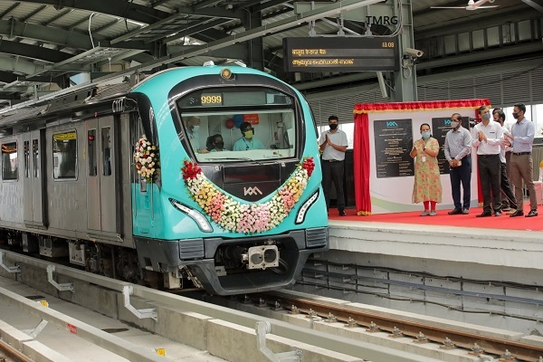 Kochi Metro Phase 1's Final Section to Petta Inaugurated